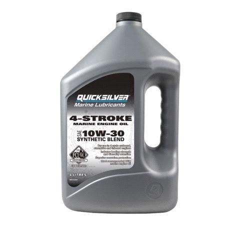 4-Stroke Engine Oil, 10W-30, Synthetic Blend, 4ltr