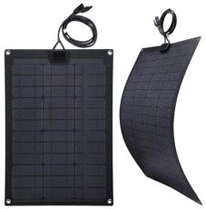 Fleksibelt Solcellepanel, 100 W - 110 x 57 cm