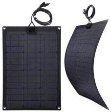 Fleksibelt Solcellepanel, 50 W - 75 x 53 cm