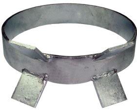 Moring, ankerring stål, gråmalt, 40 kg